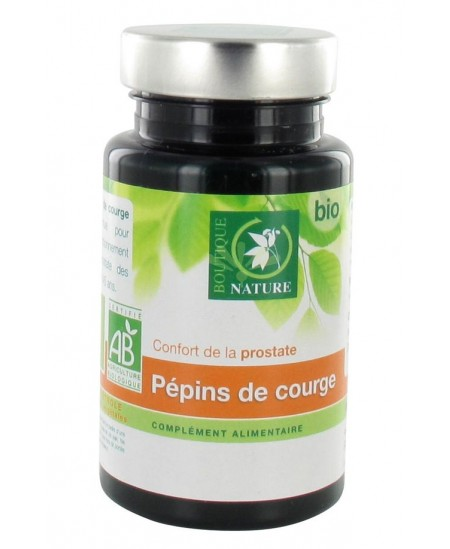Boutique Nature - Pépins De Courge Bio - 60 Gélules