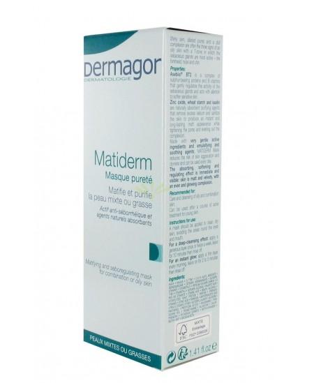 Dermagor - Matiderm Masque Pureté - 40 Ml