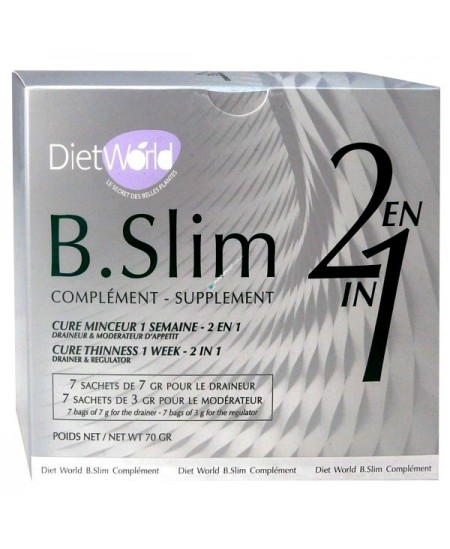 Diet World - B. Slim - Cure Minceur 2 en 1 - 1 semaine