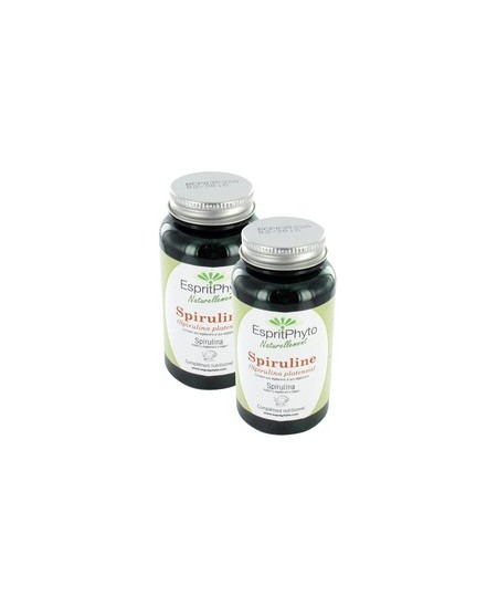 EspritPhyto - Spiruline - Cure de 1 mois (2 boîtes de 90 gélules)
