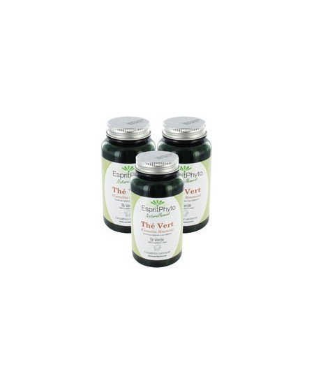 EspritPhyto - Thé Vert - Cure de 2 mois (3 boîtes de 90 gélules)