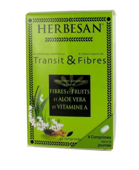 Herbesan - Transit & Fibres - 40 comprimés