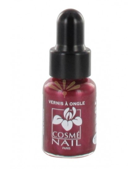 Lisandra Paris - Cosmé Nail - Mini Vernis à Ongles - Rouge Métal - 5 Ml