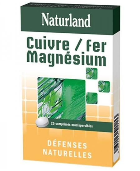 Naturland - Cuivre, fer et magnésium - Orodispersibles