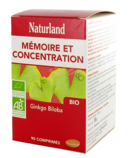 Naturland - Ginkgo Biloba Bio - Comprimés