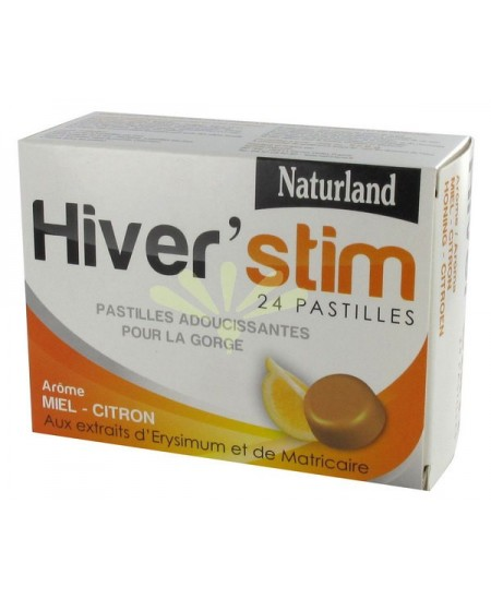 Naturland - Hiver'stim Pastilles Miel, Citron