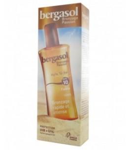 Omega Pharma - Bergasol - Huile Sèche Bronzage - SPF 10 - Spray 125 Ml