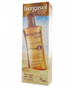 Omega Pharma - Bergasol - Huile Sèche Bronzage - SPF 6 - Spray 125 Ml