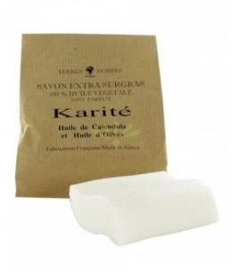 Terres Dorées - Savon Beurre de Karité Extra Doux Surgras - 100 Gr