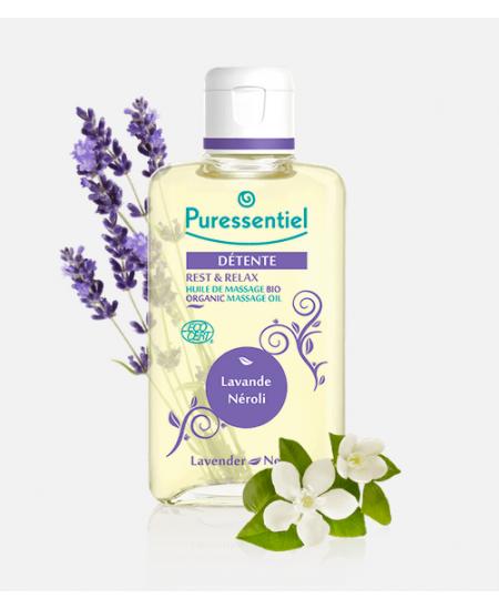Puressentiel - Huile de massage bio - Détente - 100 Ml