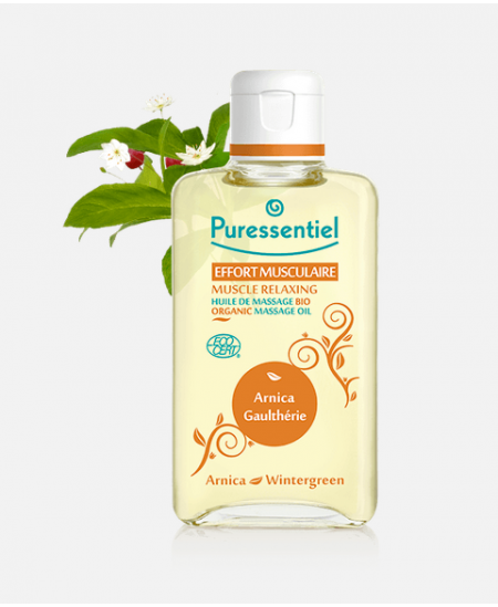 Puressentiel - Huile de massage bio - Effort musculaire - 100 ml