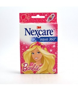 3M Nexcare - Pansements Barbie Aqua 360 Tattoo - 14 Pièces