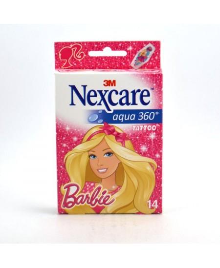 3M Nexcare - Pansements Barbie Aqua 360 Tattoo - 14 Pièces