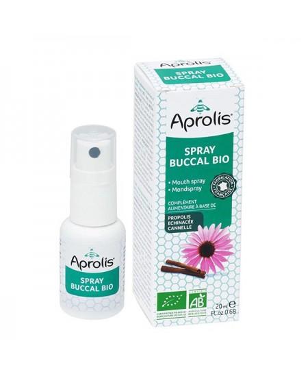 Aprolis - Spray Buccal Bio - Propolis, echinacée & huiles essentielles