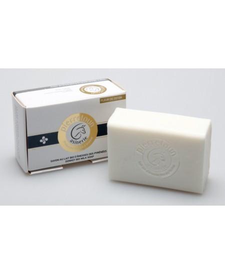Asinerie De Pierretoun - Savon 10% au lait d'ânesse bio & fleur de coton - 100 g