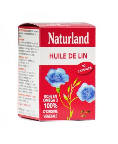 Naturland - Huile de Lin - 90 capsules