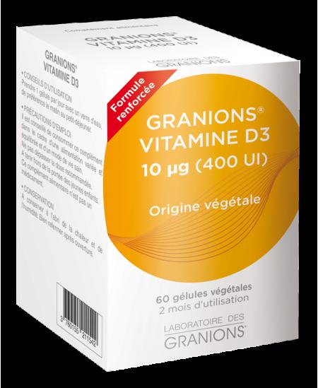 Laboratoire Des Granions - Granions Vitamine D3 végétale - 60 gélules