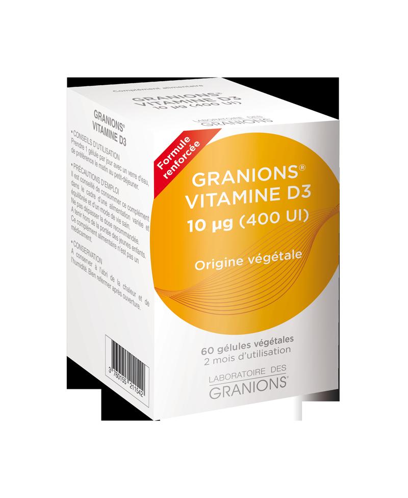 Laboratoire des Granions - Vitamine D3 végétale - 60 gélules