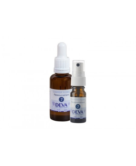 Deva - Spray Composé Floral Bio - Ressourcement N° 7 - 10 Ml