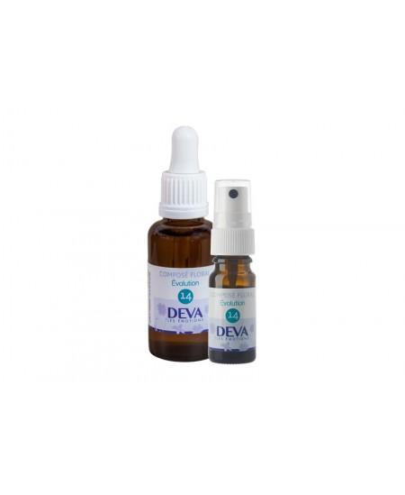 Deva - Spray Composé Floral Bio - Evolution N° 14 - 10 Ml
