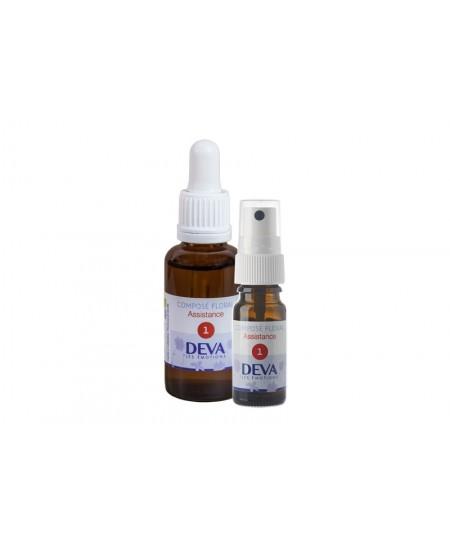 Deva - Spray Composé Floral Bio - Assistance N° 1 - 10 Ml