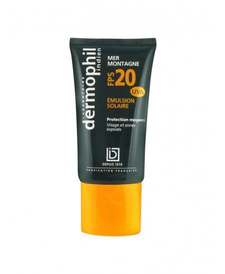 Dermophil Indien - Emulsion Solaire FPS 20 - 50 Ml