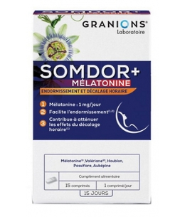 Laboratoire Des Granions - Somdor+ Mélatonine - 15 comprimés
