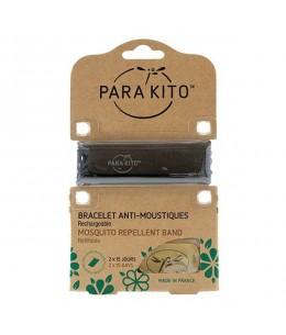 Para'Kito - Bracelet Anti-Moustiques Rechargeable - Noir