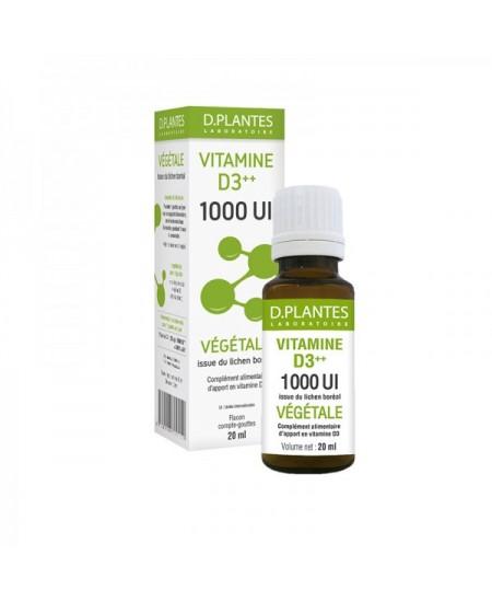 D. Plantes - Vitamine D3++ 1000 UI Végétale - flacon 20 ml