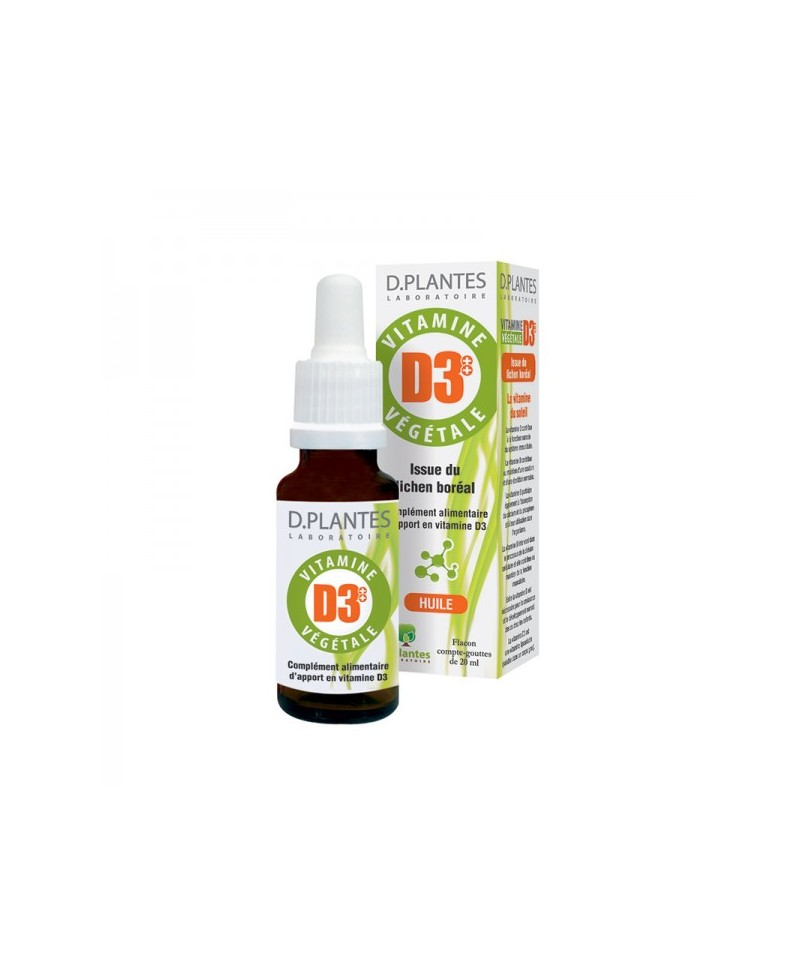 D. Plantes - Vitamine D3+ + végétale - 20 ml