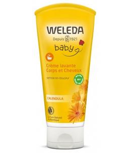 Weleda - Crème Lavante Bébé Corps et Cheveux au Calendula- 200 ml