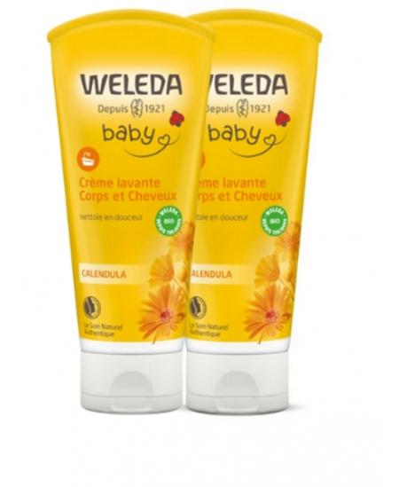 Weleda - Duo Crème lavante Bébé Corps et Cheveux au Calendula- 2 x 200 ml