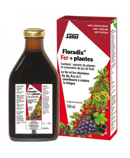 Salus - Floradix fer + plantes - flacon 500 ml
