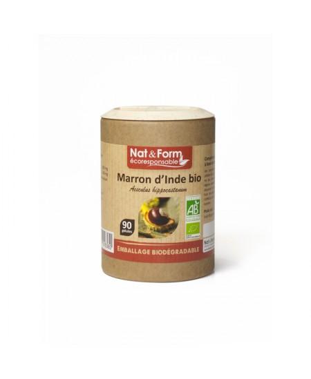 Nat & Form - Marron d'Inde Bio - 90 gélules