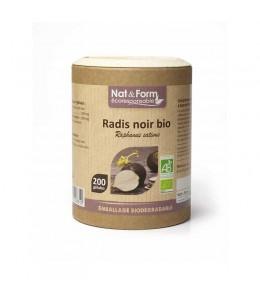 Nat & Form - Radis Noir Bio - 200 gélules