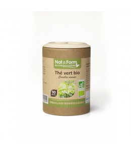 Nat & Form - Thé Vert Bio - 90 gélules