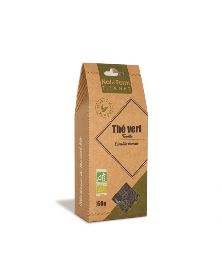 Nat & Form - Tisane Thé Vert Bio - 50 g
