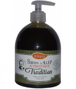 Alepia - Pouss savon d'Alep liquide authentique tradition - 500 ml