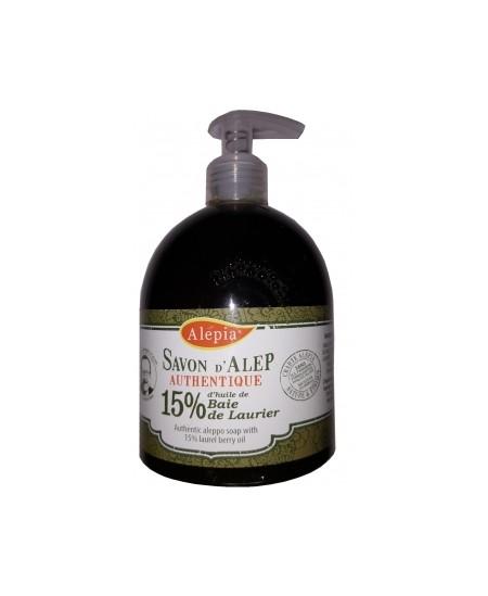 Alepia - Pouss savon d'Alep liquide authentique 15% Laurier - 500 ml