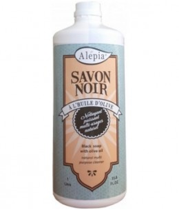 Alepia - Savon Noir liquide ménager Multi Usages - 1L