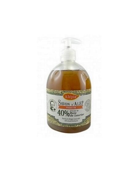 Alepia - Pouss' Savon d'Alep liquide Premium 40% laurier - 500 ml
