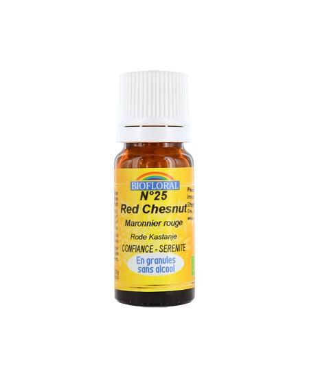 Biofloral - Elixir Red Chesnut n°25 Marronnier rouge en granules - 10 gr