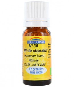Biofloral - Elixir White Chesnut n°35 Marronnier blanc en granules - 10 gr