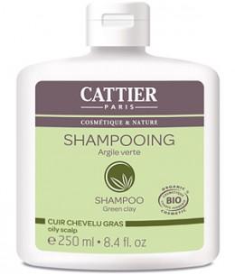 Cattier - Shampoing à l'argile verte pour cheveux gras - 250 ml