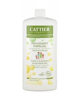 Cattier - Moussant Familial au Lactoserum cheveux et corps - 500 ml