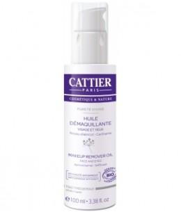 Cattier - Huile Démaquillante Purété Divine Noyau d'Abricot Efficacité waterproof - 100 ml