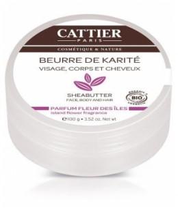 Cattier - Beurre de karité Fleur des Iles - 100 gr