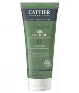 Cattier - Gel douche Cabine de bain homme - 200 ml