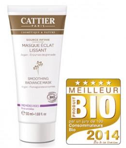 Cattier - Masque éclat lissant 1eres rides Argan Enzymes de Grenade - 50 ml
