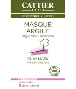 Cattier - Masque argile rose Aloe vera sachet unidose - 12,5 ml